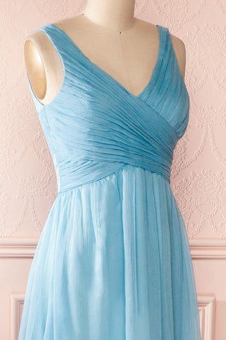 Beomia Topaz - Light blue gown with veil lining 5