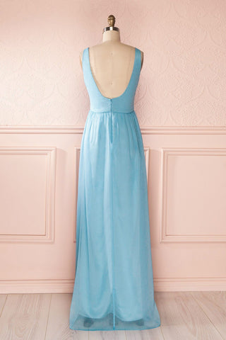 Beomia Topaz - Light blue gown with veil lining 6