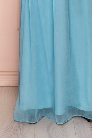 Beomia Topaz - Light blue gown with veil lining 8