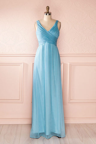 Beomia Topaz - Light blue gown with veil lining 1