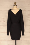 Bergame Black Knitted Wrap Dress | La petite garçonne back view