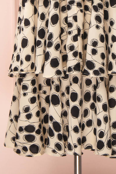 Biscotti Black & White Polkadot Midi Dress | Boutique 1861 bottom