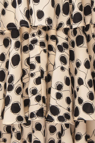 Biscotti Black & White Polkadot Midi Dress | Boutique 1861 fabric