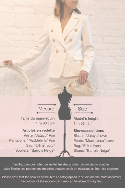 Jatayu White Tailored Jacket w/ Gold Buttons | Boudoir 1861 template