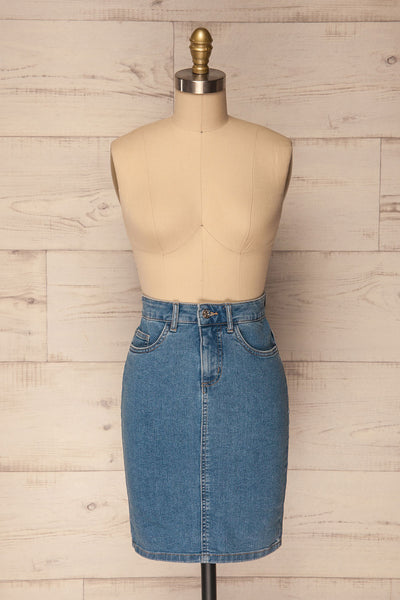 Bochnia Light Blue Jean Pencil Skirt | La Petite Garçonne