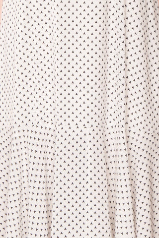 Bodashka White & Black Patterned A-Line Dress  | TEXTURE DETAIL | Boutique 1861