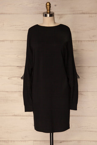 Bonnert Noir Black Reversible Sweater Dress | La Petite Garçonne