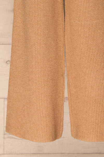 Briceni Beige Wide Leg Knit Pants | La petite garçonne bottom