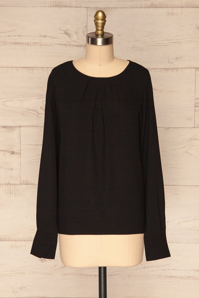 Brienza Black Long Sleeved Blouse