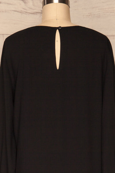 Brienza Black Long Sleeved Blouse | BACK CLOSE UP  | La Petite Garçonne