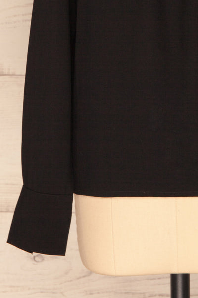 Brienza Black Long Sleeved Blouse | SLEEVE CLOSE UP | La Petite Garçonne