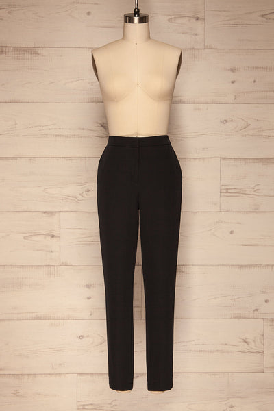 Brzeziny Black Dress Pants front view | La petite garçonne