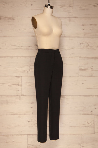 Brzeziny Black Dress Pants side view | La petite garçonne
