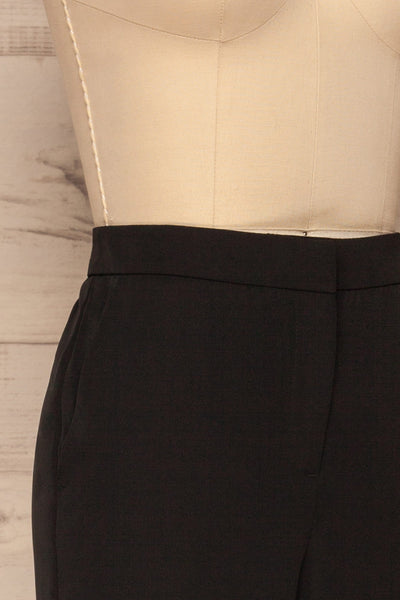 Brzeziny Black Dress Pants side close up | La petite garçonne