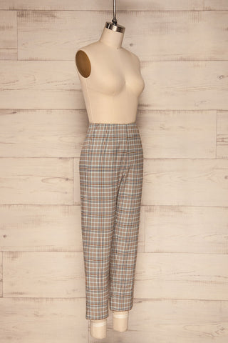 Byzcyna Beige & Black Plaid Pants  | SIDE VIEW  | La Petite Garçonne