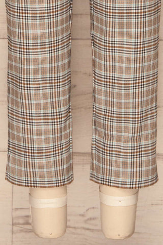 Byzcyna Beige & Black Plaid Pants  | BOTTOM CLOSE UP | La Petite Garçonne