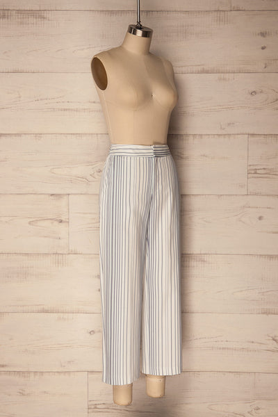 Byklo White, Blue & Lilac Striped Straight Pants | La Petite Garçonne 4