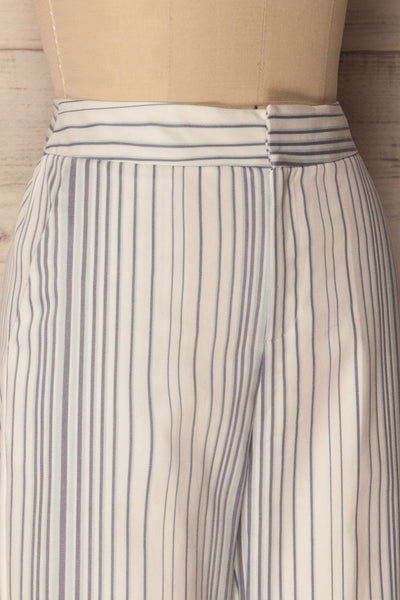 Byklo White, Blue & Lilac Striped Straight Pants | La Petite Garçonne 5