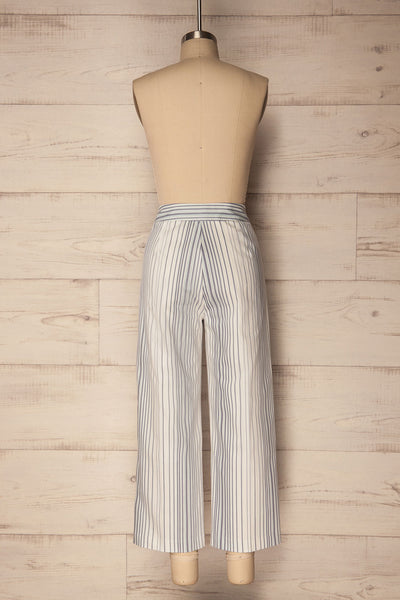 Byklo White, Blue & Lilac Striped Straight Pants | La Petite Garçonne 6