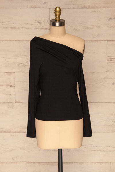 Bytom Black Off-Shoulder Top | La petite garçonne front view