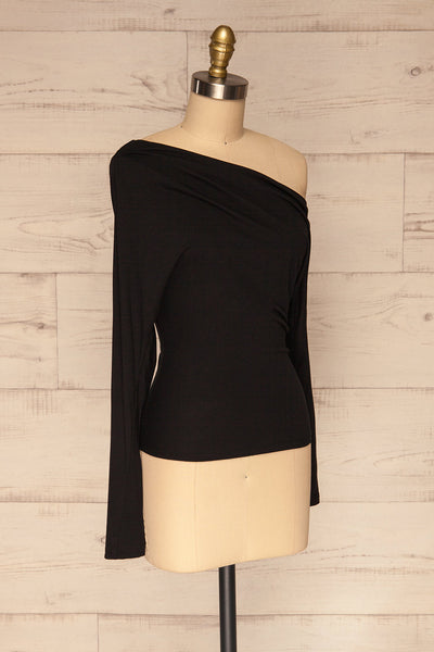 Bytom Black Off-Shoulder Top | La petite garçonne side view