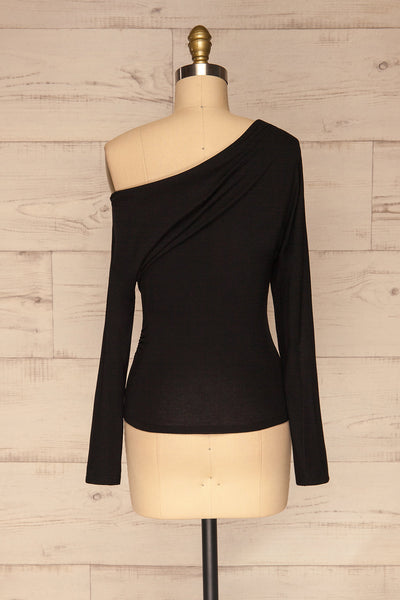 Bytom Black Off-Shoulder Top | La petite garçonne back view