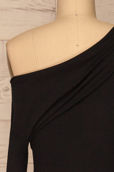 Bytom Black Off-Shoulder Top | La petite garçonne back close-up