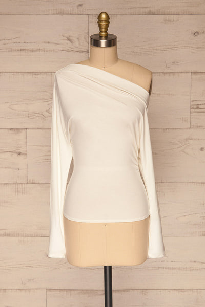Bytom White Off-Shoulder Top | La petite garçonne front view