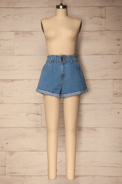 Cabeca Light Blue Denim High Waisted Shorts | La Petite Garçonne