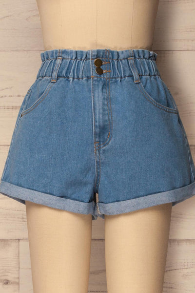 Cabeca Light Blue Denim High Waisted Shorts | La Petite Garçonne 2