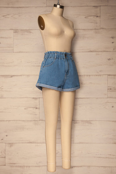Cabeca Light Blue Denim High Waisted Shorts | La Petite Garçonne 3
