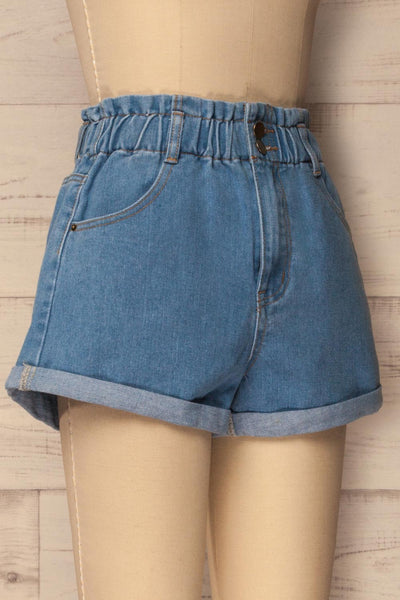 Cabeca Light Blue Denim High Waisted Shorts | La Petite Garçonne 4