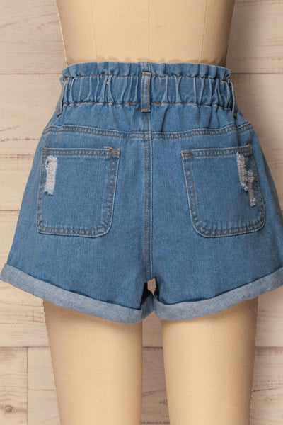 Cabeca Light Blue Denim High Waisted Shorts | La Petite Garçonne 6