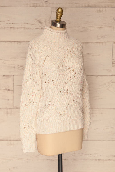 Cachipirca Mock Neck Knit Sweater | La petite garçonne side view
