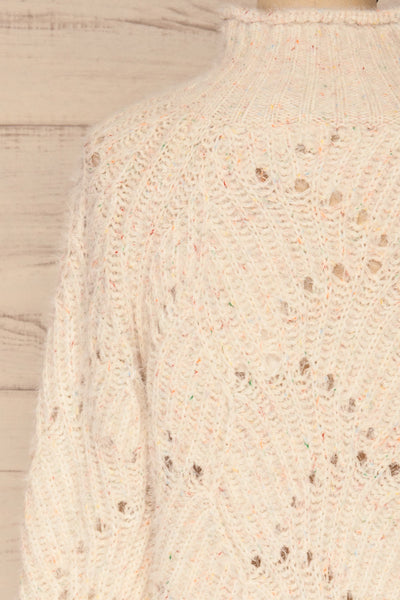 Cachipirca Mock Neck Knit Sweater | La petite garçonne back close-up