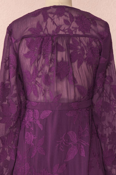 Cadha Purple | Floral Dress