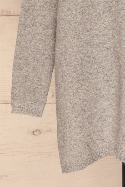 Cadix Grey Long Sleeve Knitted Dress | La petite garçonne bottom