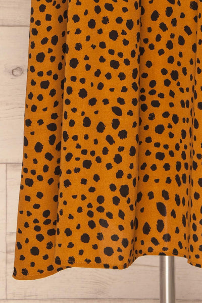 Cajoncito Ochre & Black Polkadot Tunic Dress | BOTTOM CLOSE UP | La Petite Garçonne