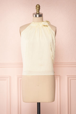 Calanthe Ivoire Ivory Satin Halter Top | Boutique 1861 1