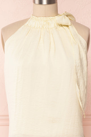 Calanthe Ivoire Ivory Satin Halter Top | Boutique 1861 2