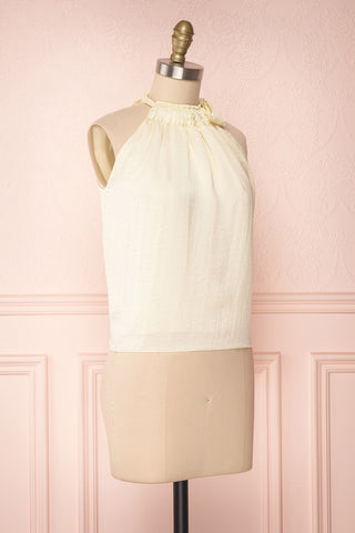 Calanthe Ivoire Ivory Satin Halter Top | Boutique 1861 3