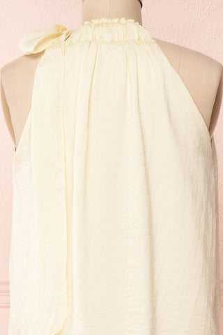 Calanthe Ivoire Ivory Satin Halter Top | Boutique 1861 6