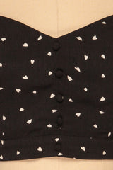 Calceta Black & White Heart Patterned Crop Top | La Petite Garçonne 8
