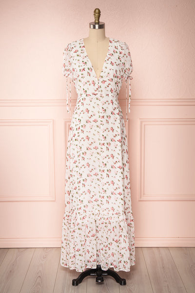 Calibishie Floral Flowy Maxi Summer Dress | Boutique 1861