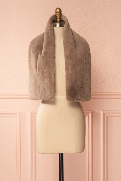 Calor Taupe Faux-Fur Stole | Boutique 1861 6