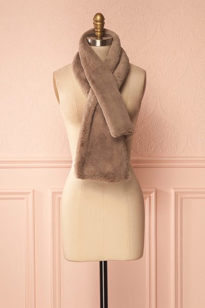 Calor Taupe Faux-Fur Stole | Boutique 1861 1