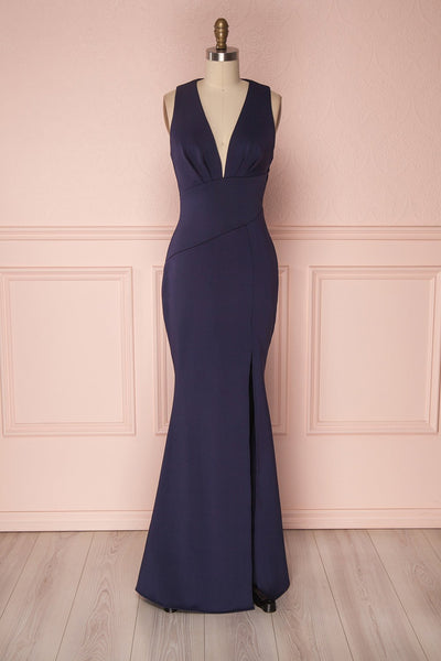 Camila Mer Navy Blue Mermaid Gown | Boudoir 1861