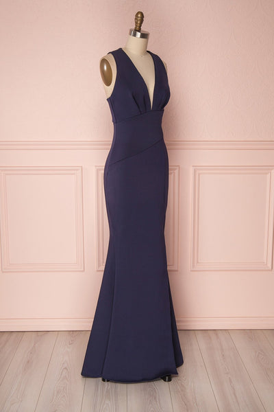 Camila Mer | Navy Blue Mermaid Gown