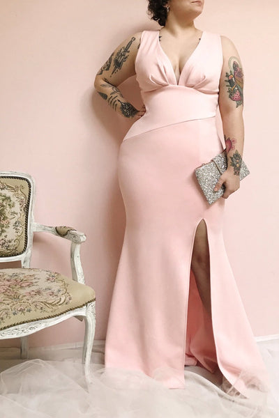 Camila Aube Light Pink Mermaid Gown | Boudoir 1861 model look