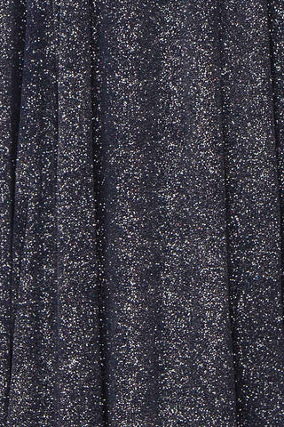 Campozano Navy Shimmery A-Line V-Neck Dress | Boutique 1861 fabric detail